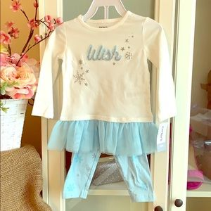NWT CARTERS GIRLS 2 Pc 18m
